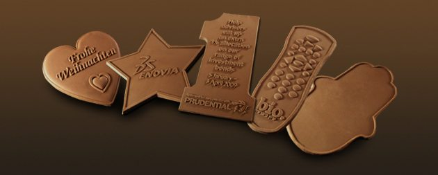 שוקולד מעוצב עם לוגו