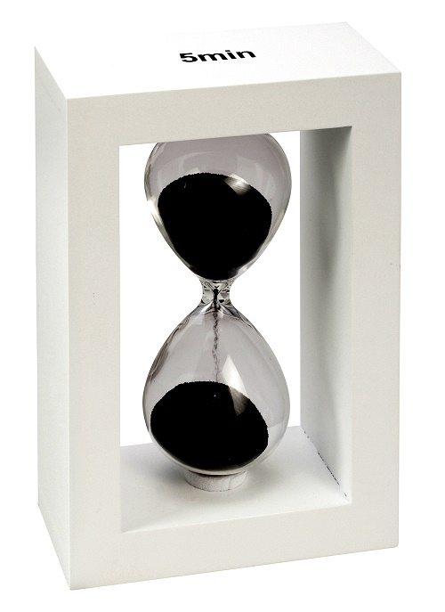 שעון חול ממותג עם לוגו חברה