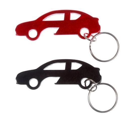 מחזיק מפתחות בצורת מכונית עם פותחן בירות