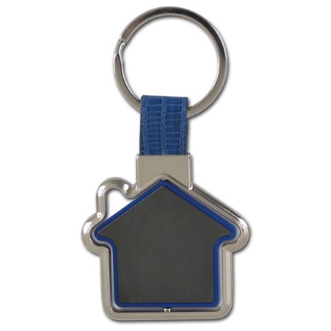 מחזיק מפתחות ממותג בצורת בית עם לוגו
