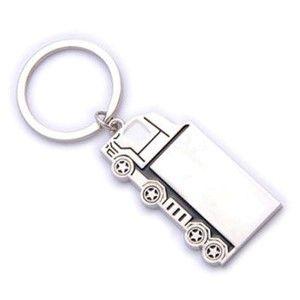 מחזיק מפתחות בצורת משאית עם לוגו