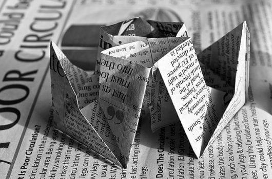 עיתון מנייר ממוחזר