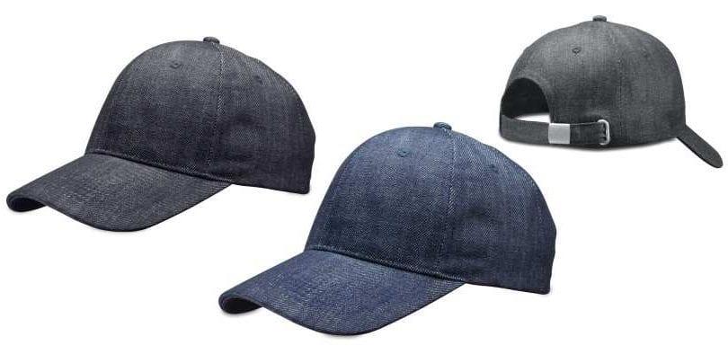 כובע ג'ינס ממותג עם לוגו
