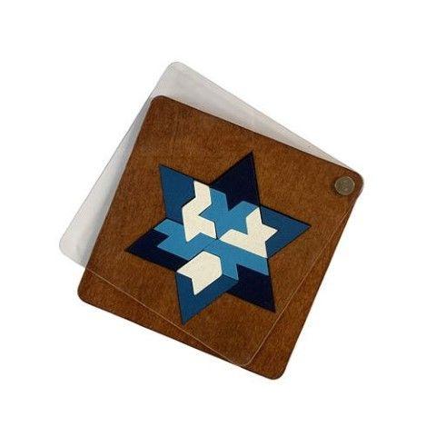 פאזל מגן דוד יוקרתי ממותג עם לוגו חברה