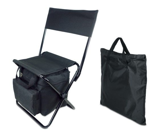 כיסא קמפינג ממותג משולב עם צידנית