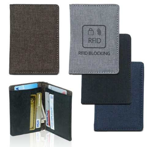 ארנק כרטיסי אשראי מעוצב עם לוגו